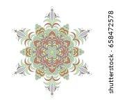 colorful hexagonal pattern.... | Shutterstock .eps vector #658472578