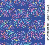 abstract vector floral color... | Shutterstock .eps vector #658473136