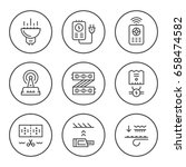 set round line icons of led... | Shutterstock .eps vector #658474582