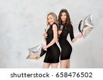 young women together... | Shutterstock . vector #658476502