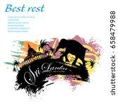travel sri lanka grunge style... | Shutterstock .eps vector #658479988