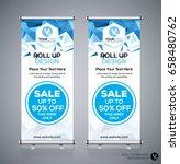 roll up brochure flyer banner... | Shutterstock .eps vector #658480762