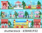 amusement park set.