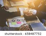 business handshake. business... | Shutterstock . vector #658487752