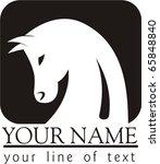 Stock vector an iconic horses head emblem 65848840