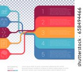 vector infographics layout step ... | Shutterstock .eps vector #658494466