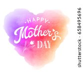 happy mothers day. greeting... | Shutterstock . vector #658495696
