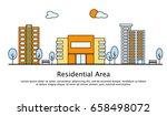 modern street scenery in flat... | Shutterstock .eps vector #658498072