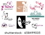 big set of logos for beauty... | Shutterstock .eps vector #658499035