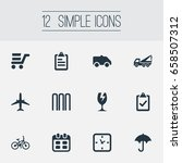 vector illustration set of... | Shutterstock .eps vector #658507312
