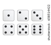 set of white vector dice. | Shutterstock .eps vector #658514422