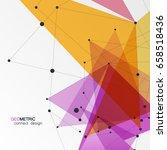 vector abstract polygonal...   Shutterstock .eps vector #658518436