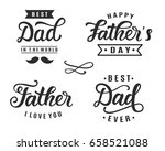 happy father's day greeting... | Shutterstock .eps vector #658521088