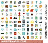 100 information icons set in... | Shutterstock .eps vector #658522852