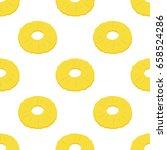 dried pineapple seamless... | Shutterstock .eps vector #658524286