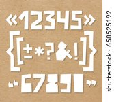 rough numbers and symbols... | Shutterstock .eps vector #658525192