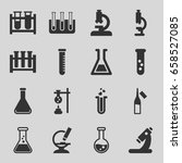 lab icons set. set of 16 lab... | Shutterstock .eps vector #658527085