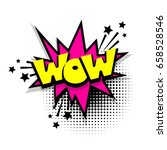 lettering wow. comics book... | Shutterstock .eps vector #658528546