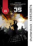 music event poster. easy... | Shutterstock .eps vector #658528876