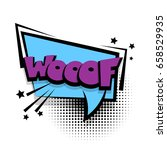 lettering woof  dog  puppy.... | Shutterstock .eps vector #658529935