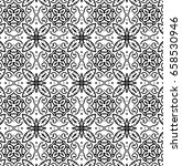 ornament with elements of black ... | Shutterstock . vector #658530946
