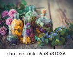 bottles of tincture or infusion ... | Shutterstock . vector #658531036
