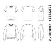 vector clothing templates....   Shutterstock .eps vector #658532515