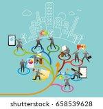 office workflow | Shutterstock .eps vector #658539628