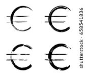 euro sign | Shutterstock .eps vector #658541836