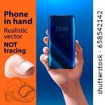 phone in hand. smartphone... | Shutterstock .eps vector #658542142