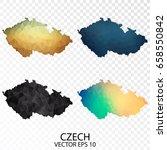 set of transparent polygonal...   Shutterstock .eps vector #658550842
