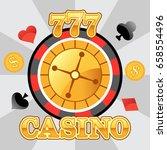 lucky casino roulette emblem ... | Shutterstock .eps vector #658554496