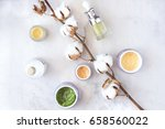 natural skincare beauty... | Shutterstock . vector #658560022