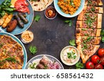 traditional assorted turkish... | Shutterstock . vector #658561432