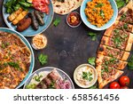 traditional assorted turkish... | Shutterstock . vector #658561456