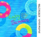 swim rings on swimming pool... | Shutterstock .eps vector #658561786