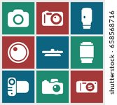 objective icons set. set of 9... | Shutterstock .eps vector #658568716