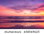 Beautiful Sunset Sky Over Sea