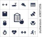 set of 13 training icons set...   Shutterstock .eps vector #658571056