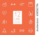 set of 12 training outline... | Shutterstock .eps vector #658581796