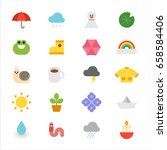 Weather Colorful Cute Icons...