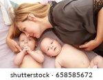 indoor portrait of young happy... | Shutterstock . vector #658585672