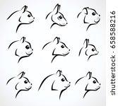 cat set. vector | Shutterstock .eps vector #658588216