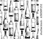 seamless pattern with different ... | Shutterstock . vector #658589152
