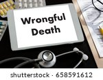 wrongful death doctor talk and  ... | Shutterstock . vector #658591612