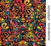 funky seamless pattern | Shutterstock .eps vector #65859334