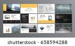 original presentation templates ... | Shutterstock .eps vector #658594288