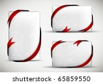 christmas gift card with red... | Shutterstock . vector #65859550
