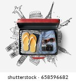 travel bag concept | Shutterstock . vector #658596682