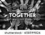 diversity hands community...   Shutterstock . vector #658599826
